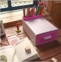 DIY桌面抽屉盒+笔筒