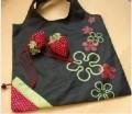日本超可爱两用 折叠草莓环保袋/包包挂件