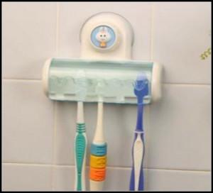 新一代比尼吸墙五格牙刷架