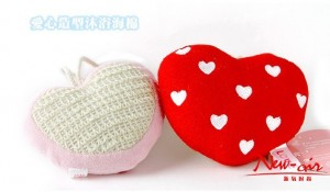 Love Heart 可爱爱心泡沫制造沐浴海棉