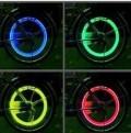 创意汽车气门灯风火轮(七彩)送电池