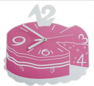 创意艺术蛋糕挂钟