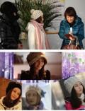 韩版蝴蝶结甜美羊毛绒线帽