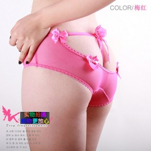 细带蝴蝶结透明性感内裤