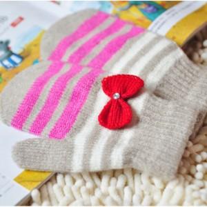 韩版蝴蝶结暖手套