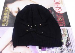 韩版女士毛线保暖帽子