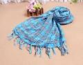 韩款时尚格子披肩/围巾