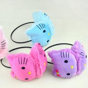 hello kitty猫冬天耳罩