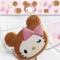 日版hello kitty 饼干耳机带夹子卷线器/绕线器