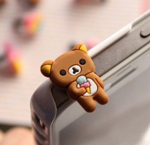 Rilakkuma轻松熊雪糕iphone 手机/耳机防尘塞