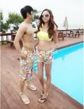 彩色花纹情侣沙滩裤