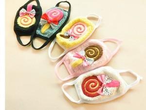 韩版可爱保暖棒棒糖口罩(儿童款)