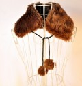 韩版兔毛球保暖假领子