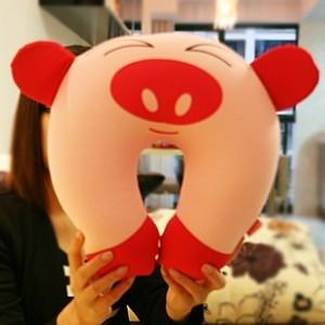 可爱粉猪U型保健护颈枕