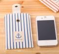 复古海军风iphone线条纹手机包