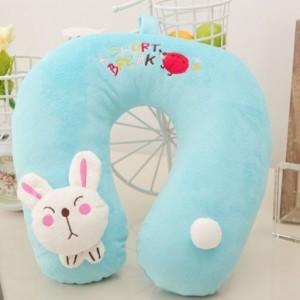 蓝兔子U型保健护颈枕(大人,小孩都能用)