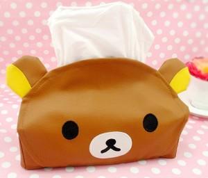 轻松熊皮革纸巾盒/纸巾抽