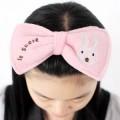 韩版蝴蝶结兔子化妆/洗脸头巾发带