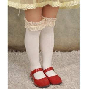 儿童蕾丝花边中筒袜