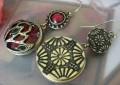 红宝石耳环