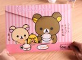 可爱轻松熊A4文件袋(横款)