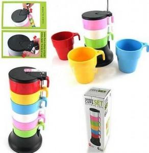 野餐层叠彩虹杯(6只杯)